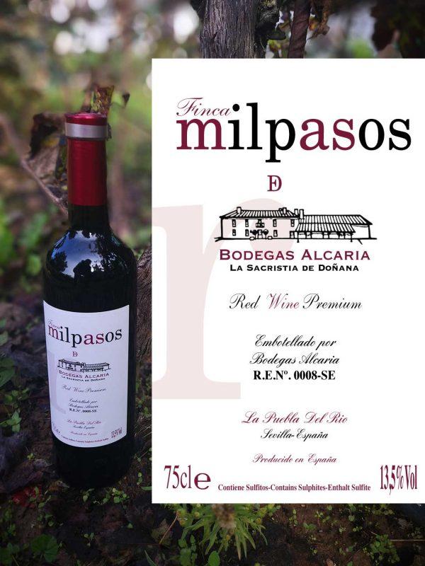 milpasos vino tinto red wine premium